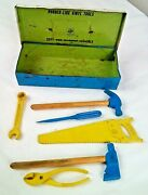 Vintage Ohio Art Toy Tool Boxbusy Boy Tool Chest Playset With Rubber/wood Tools