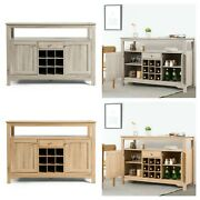 Buffet Sideboard Wine Rack Cabinet Console Table Multiple Colors