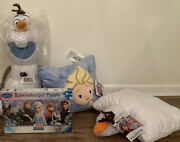 Frozen 1 And 2 Bundle Set. Olaf Plush Olaf Pillows And Elsa Pillows And Puzzle
