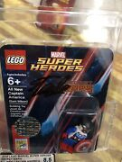 Lego Captain America Minifigure 2015 Sdcc Sandiego Comic Con By Signed Stan Lee