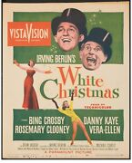 Movie Poster White Christmas 1954 Trimmed Window Card 14x17 Vf-7 Bing Crosby
