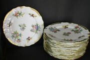 Set Of 12 Herend Charger Plates, [11 Dia.]  C 1980