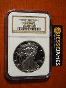 Ultra Rare 1997 P Proof Silver Eagle Ngc Pf69 Cameo Classic Brown Label