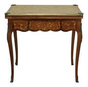 F31987ec Vintage 1920s Highly Inlaid French Louis Xv Games Table