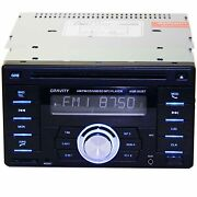 New Gravity Double Din Bluetooth Car Audio Stereo Cd Mp3 Player W/ Usb Aux Am/fm