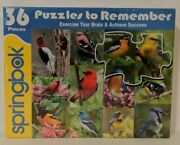 Springbok Puzzles To Remember 36 Xl Pieces Birds Alzheimer's Excercise