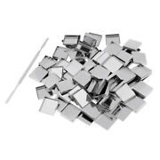 Lot 100 Square Empty Eyeshadow Blush Makeup Pans For Magnetic Palette Tins Stick