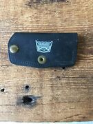 Vintage Ford Mustang Dash Accessory Leather Key Case Dunne Ford Sales Prov. Ri