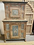Antique Swedish Gustavian Painted Cabinet Cupboard   Bar Pantry Cabinet