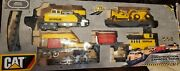 Caterpillar Cat Construction Express Train Set Motorized W/ Box Untested As Is