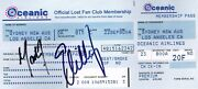 Lost Signed Oceanic Airline Ticket Replica Matthew Fox And Evangeline Lilly Coa