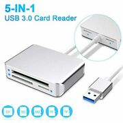 Sd Card Reader Takya Usb3.0 5-in-1 Memory Up To 5gbp/s Cards Sdxc/ Sdhc/ Sd/
