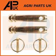 2 X Top Link Pins With Linch Pins 22mm X 73m For Massey Ford Tractor Pin Cat 2
