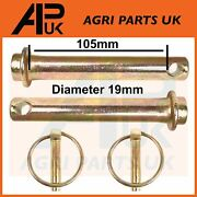 Pair Top Link Pin + Linch Pins Linkage For Massey David Brown Cat 1 Tractor