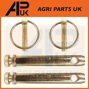 2 X Top Link Pin And Linch Pins 19mm Tractor Cat 1 Linkage Lynch Vintage Toplink