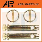 2 X Category Cat 1 Linkage Top Link Pins 19mm X 75mm And Linch Lynch Pins Tractor