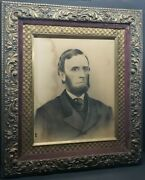 Antique Print Young Abrahan Lincoln W/ Fantastic Frame As Is As Pictured