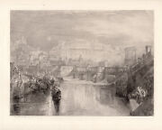 Wow 1800s Jmw Turner Etching Agrippina And Ashes Of Germanicus Framed Signed Coa