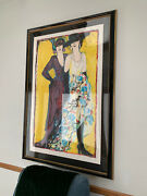 Large Judith Bledsoe Lily And Coco Original Litho Signed