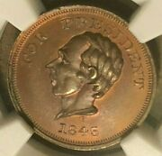 C 1860 Henry Clay Campaign Token Dewitt-hc-dcu Ngc Ms66 Rb Very Nice Detail
