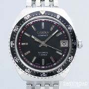 Citizen 2808-y Date Vintage Compact Automatic Mens Watch Authentic Working