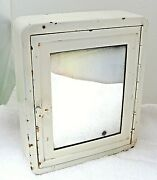 Antique Safetee Shaving Cabinet Gem And Ever-ready Safety Razors Metal W Mirror