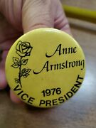 Anne Armstrong 1976 Vice President 1970and039s Political Pinback Pin Button C14