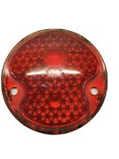 Vintage 1932 Ford Cars K-d Triflex 261 Red Glass Tail Light Lamp Lens 3 3/4