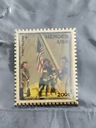 9/11 Heroes Usa 2001 First-class Stamp Lapel Pin First Responders Usps Vintage