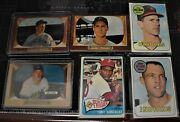 1950's And 1960's Baseball Card Lot 6 Cards Included As Pictured