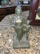 Bryant Baker Original Bronze Statue Pioneer Womansigned And Sealed 1927