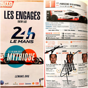 Lemans 24h 2017 Official Mini Guide Signed Drivers Formula 1 F1 Indyindy500
