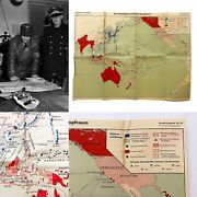 Very Rare Wwii 1941 German Command Officer Intelligence Map Of Pacific Theater