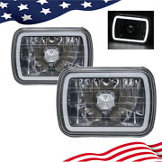 7 Inch 7x6 Semi Sealed Conversion White 3d Smd Halo Crystal Headlights