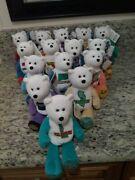 50 State Quarter Teddy Bears With Tags First 13 Colonies Great Present + Bonus