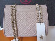 Nwt Fleming Medium Bag In Light Oak Quilted Leather Msrp 475
