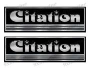 Citation Custom Stickers - 10 Inch Long Set. Remastered Name Plate
