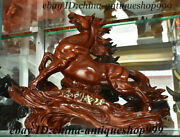 17 Unique Chinese Wood Feng Shui 12 Zodiac Year Animal Horse Tree Wealth Statue