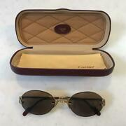 Authentic Women's C Setting Brown Lens Sunglasses Glasses Used