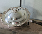 Vintage Silverplate 3 Piece Baroque Chafing Dish Towle