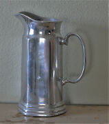 Vintage Tall Wilton Pewter Tavern Water Pitcher Rustic Farmhouse