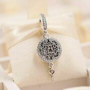 Original S925 Sterling Silver Regal Love Key To My Heart Dangle Charms 925 Cz 🕊