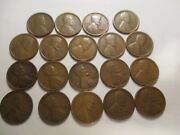 19 1916 S - 1940 S Lincoln Wheat Cents Missing The 1926 S And 1931 S G/vf