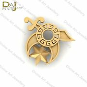 Shriners Logo Inspired Lapel Pin Gold Lapel Pin Suit Accessories Wedding Jewelry