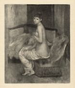 Pretty Renoir 1919 Engraving Nu Le Repos Limited Japon Paper Signed Framed Coa