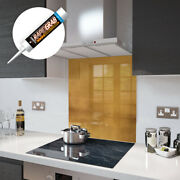 Glass Splashbacks Antique Gold And Accessories - Made By Premier Range