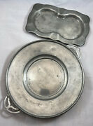 Vintage Pewter Trays 2 Pieces