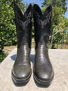 Lucchese Classic Belly Alligator With French Toe 10.5 D Grey Color