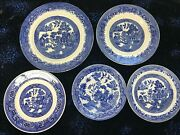 Vintage Blue Willow Ware, 95 Pieces, Plates, Bowls, Serving Dishes