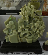 23 Chinese Afghanistan Jade Stone Carving Flower Tree Mountain Stone Statue